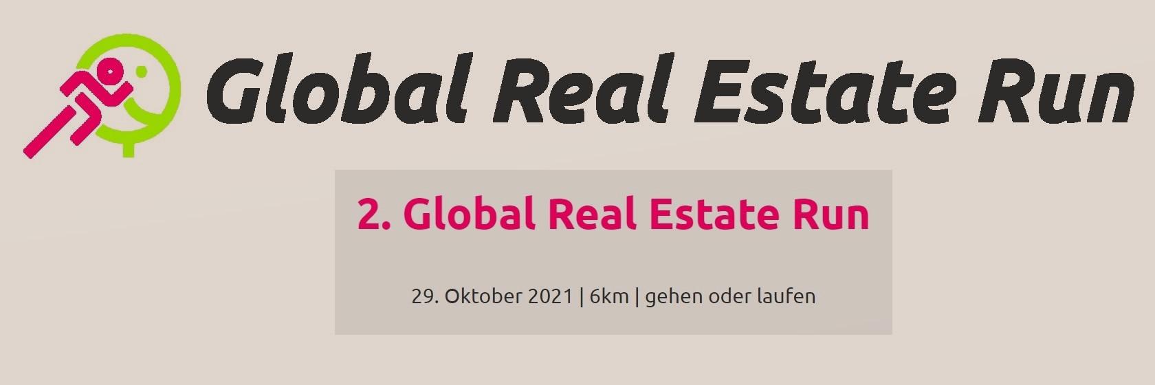 Jetzt teilnehmen am Global Real Estate Run 2021!